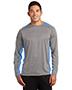 Sport-Tek® ST361LS Men Long-Sleeve Heather Colorblock Contender   Tee