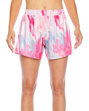 Team 365 TT42W Women All Sport Sublimated Pink Swirl Short