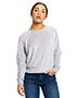 US Blanks US538 Ladies 7.6 oz Velour Long Sleeve Crop T-Shirt