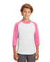 White/ Bright Pink