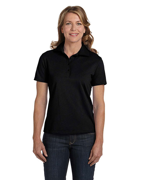 Hanes 035 Women 7 Oz. Comfort Soft Cotton Pique Polo at GotApparel