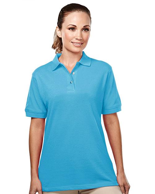 Tri-Mountain 092 Women Accent Easy Care Pique Golf Shirt at GotApparel