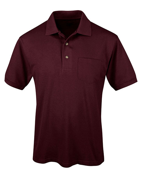 Tri-Mountain 096 Men Short-Sleeve Pique Easy Care Golf Shirt at GotApparel