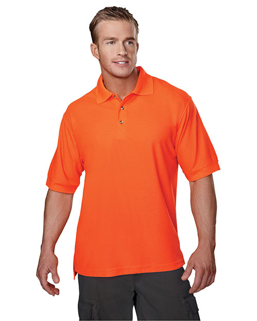 Tri-Mountain 100 Men Safeguard Short-Sleeve Pique Golf Shirt at GotApparel
