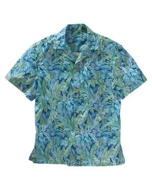 Edwards 1032 Men Tropical Leaf Camp Shirt at GotApparel