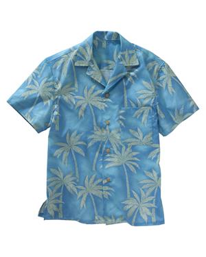 Edwards 1034 Men Tropical Palm Tree Camp Collar Shirt at GotApparel