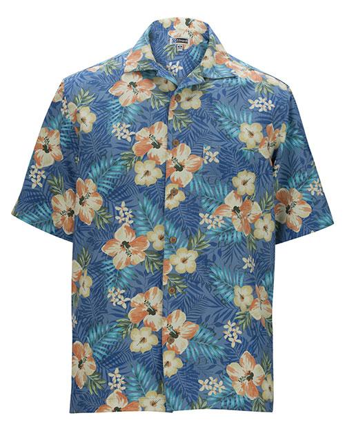 Edwards 1035 Men Tropical Hibiscus Camp Shirt at GotApparel