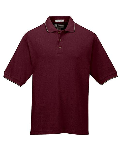 Tri-Mountain 116 Men Pursuit Short-Sleeve Ultracool Mesh Golf Shirt With Trim Collar at GotApparel