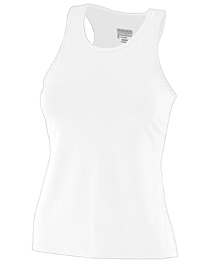 Augusta 1203 Girls Poly/Spandex Solid Racerback Tank at GotApparel