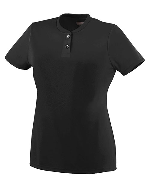 Augusta 1213 Girls Wicking Two Button Jersey at GotApparel