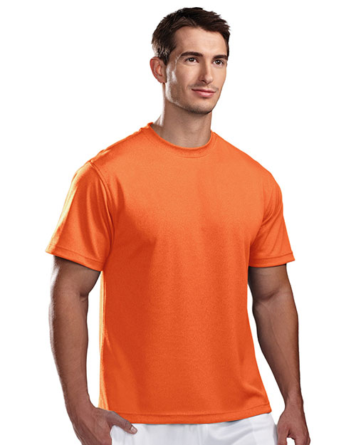 Tri-Mountain 122 Men Motum Poly Ultracool Pique Crewneck Short-Sleeve Shirt at GotApparel
