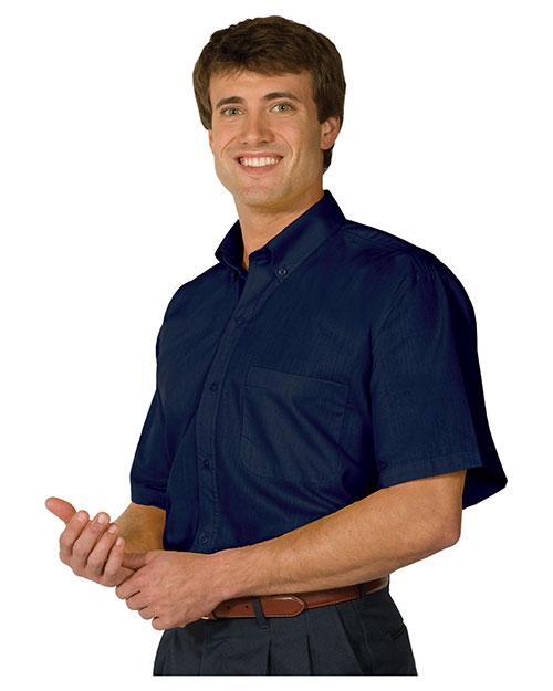 Edwards 1245 Men Poplin Short-Sleeve Shirt at GotApparel