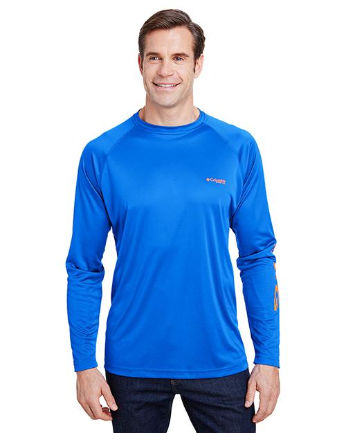 Custom Embroidered Columbia 1388261 Men Terminal Tackle Long-Sleeve T-Shirt at GotApparel