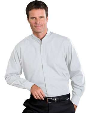 Edwards 1396 Men Banded Collar Long-Sleeve Shirt at GotApparel