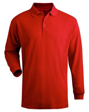 Edwards 1515 Men Long-Sleeve Pique Polo Shirt at GotApparel