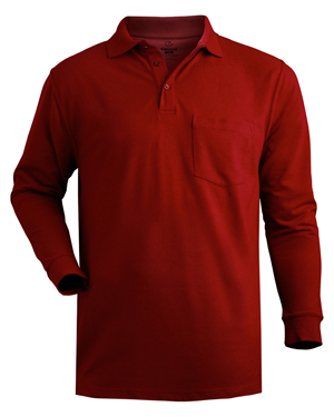 Edwards 1525 Men Soft Touch Blended Long Pique Polo at GotApparel