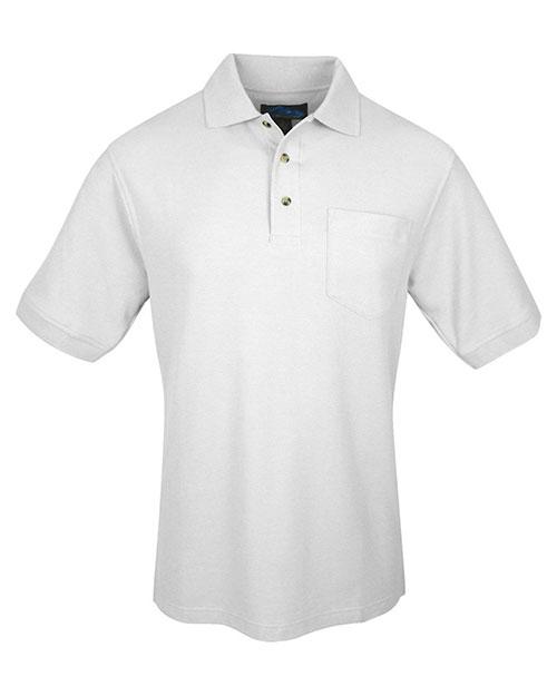 Tri-Mountain 169 Men Signature Pique Pocketed Golf Shirt at GotApparel