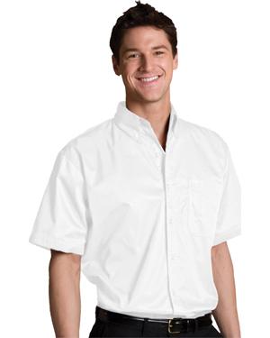 Edwards 1740 Men Big & Tall Left Chest Pocket Short-Sleeve Twill Shirt at GotApparel