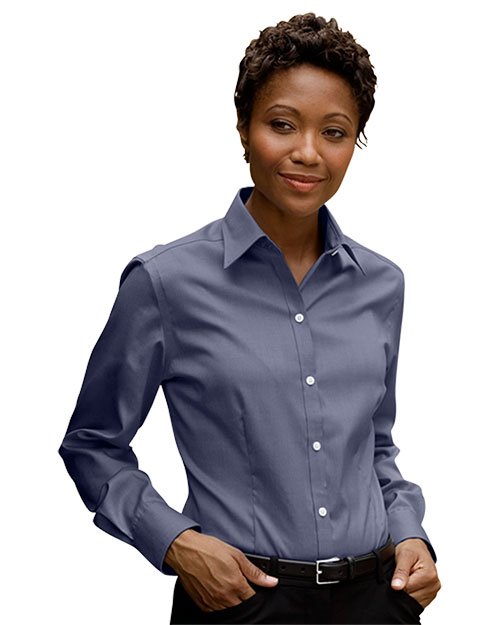 Eagle Shirtmakers 1841 Women Eagle 's No-Iron Pinpoint Oxford at GotApparel