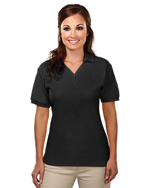 Tri-Mountain 186 Women Stature Cotton Baby Pique Y-Neck Golf Shirt at GotApparel