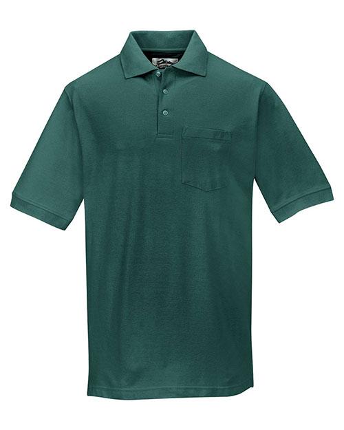 Tri-Mountain 189 Men Cotton Pique Pocketed Golf Shirt at GotApparel