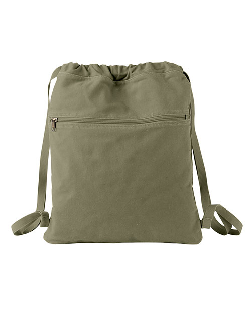 Authentic Pigment 1901 Unisex 14 Oz Canvas Cinch Sack at GotApparel