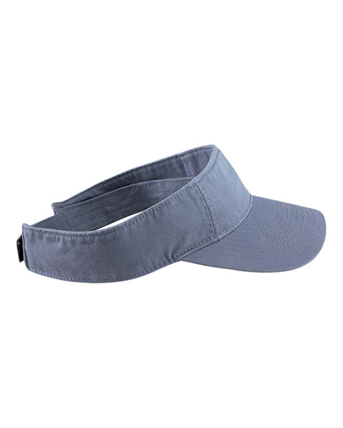 Authentic Pigment 1915 Unisex Direct-Dyed Twill Visor at GotApparel