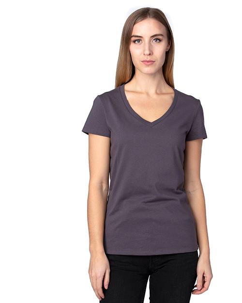 Threadfast Apparel 200RV Ladies 4.8 oz Ultimate V-Neck T-Shirt at GotApparel