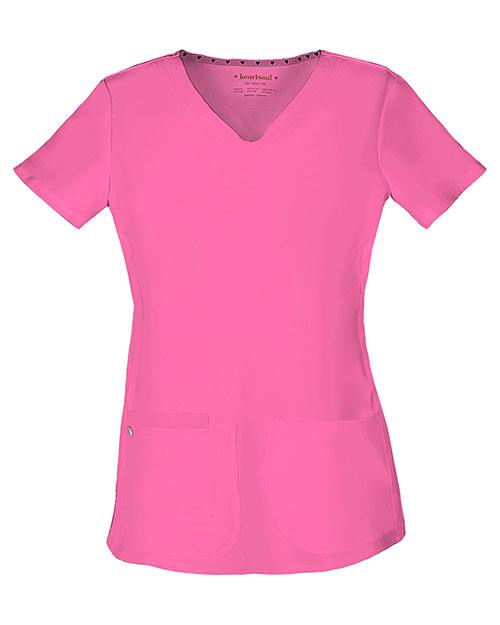 Heartsoul 20710 Women Pitter-Pat Shaped V-Neck Top at GotApparel