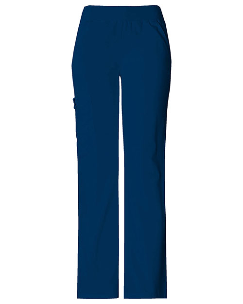 Cherokee 2085P Women Mid Rise Knit Waist Pull-On Pant at GotApparel