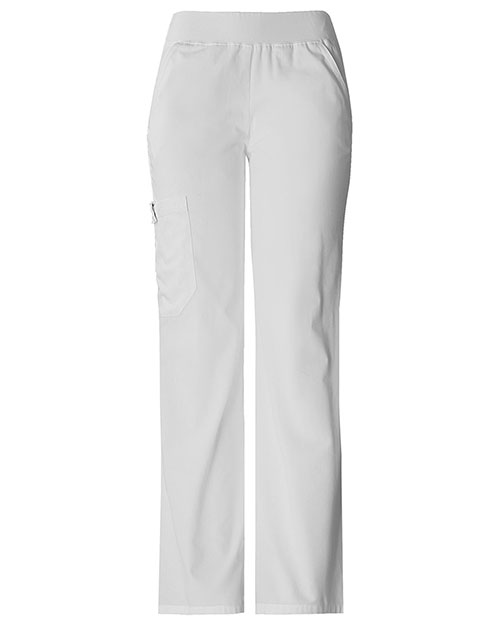 Cherokee 2085 Women Mid Rise Knit Waist Pull-On Pant at GotApparel