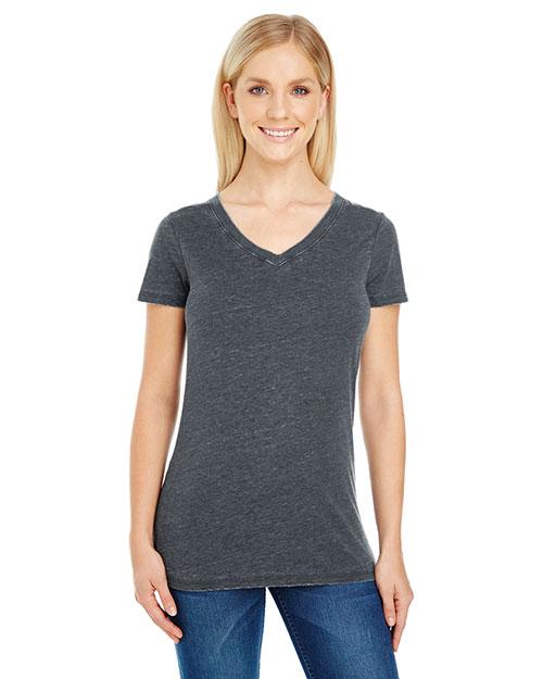 Threadfast Apparel 208B Women 4.3 oz Vintage Dye Short-Sleeve V-Neck T-Shirt at GotApparel