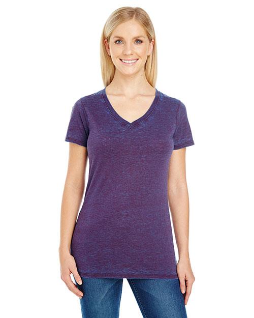 Threadfast Apparel 215B Women 4.3 oz Cross Dye Short-Sleeve V-Neck T-Shirt at GotApparel