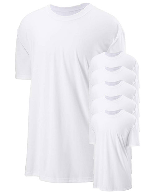 Jerzees 21M Men 5.3 Oz. 100% Polyester Sport With Moisture Wicking T-Shirt 6-Pack at GotApparel