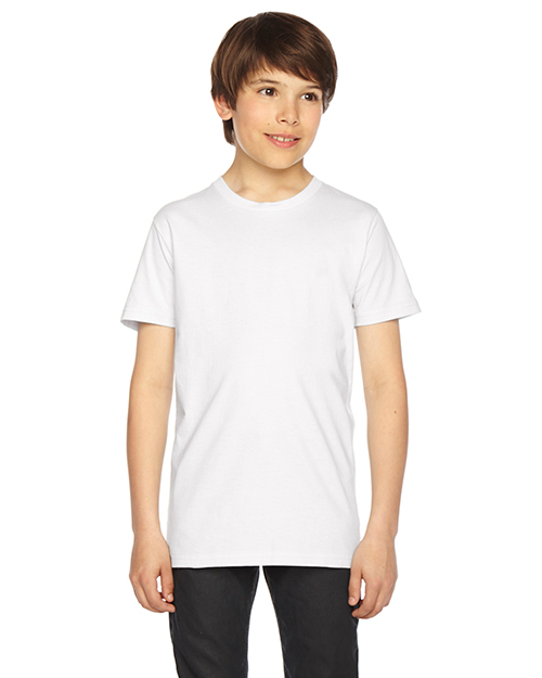 Custom Embroidered American Apparel 2201W Youth 4.3 oz. Fine Jersey Short-Sleeve T-Shirt at GotApparel