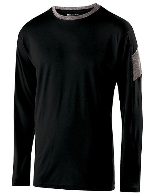 Holloway 222627 Boys Polyester Long Sleeve Electron Shirt at GotApparel
