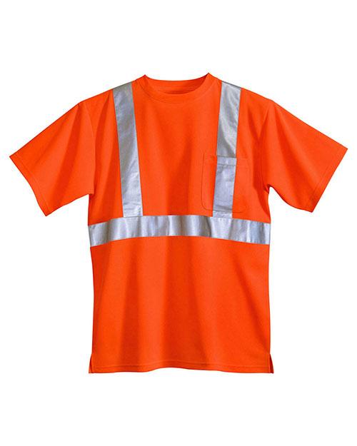 Tri-Mountain 222 Men Boundary Safety Shirt Ansi Class 2/Level 2 at GotApparel