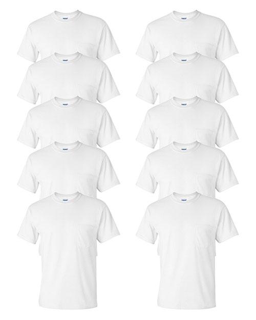 Gildan G230 Men Ultra Cotton  6 Oz. Pocket T-Shirt 10-Pack at GotApparel