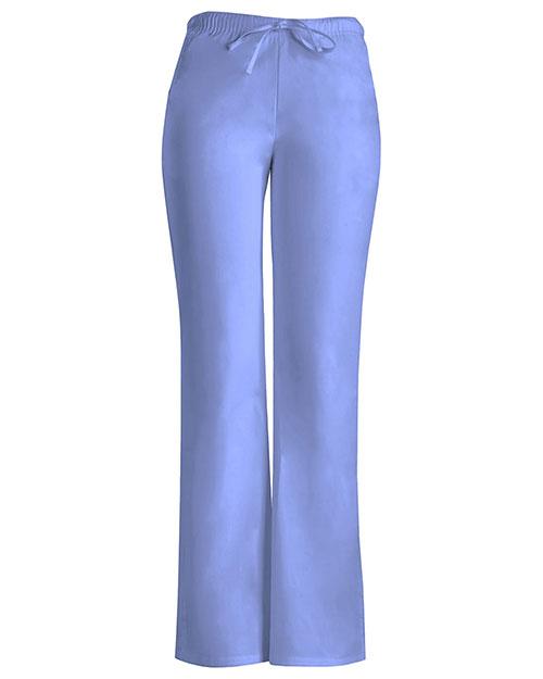 Cherokee Workwear 24002P Women Low Rise Moderate Flare Drawstring Pant at GotApparel