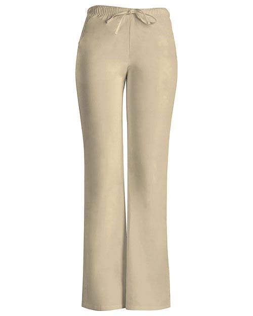 Cherokee Workwear 24002 Women Low Rise Moderate Flare Drawstring Pant at GotApparel