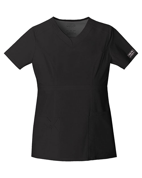 Cherokee Workwear 24703 Women V-Neck Top at GotApparel