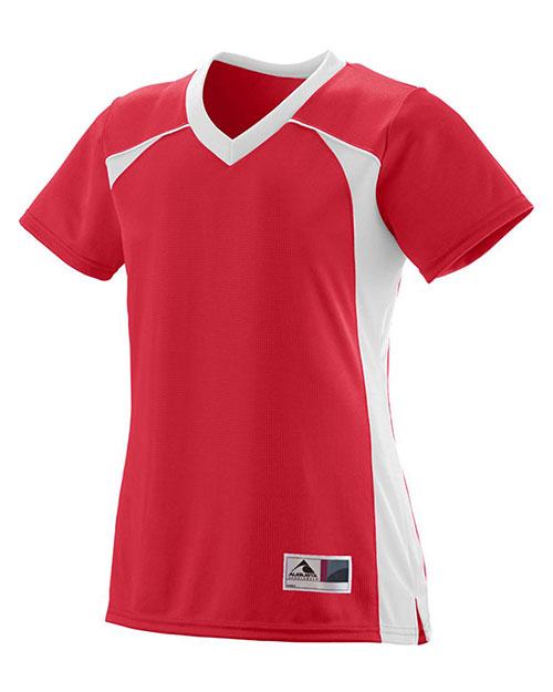 Augusta 262 Women Victor Replica Short Sleeve Jersey at GotApparel