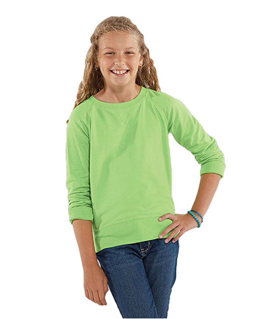 Lat 2652 Girls French Terry Slouchy at GotApparel