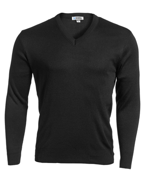 Edwards 265 Men Ribbed Collar Interlock Stitch V-Neck Sweater at GotApparel