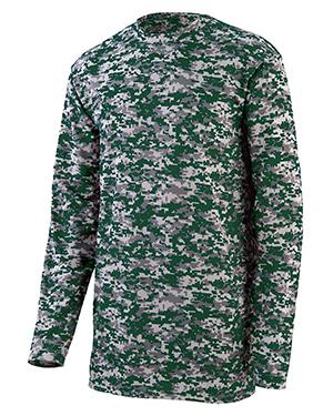 Augusta 2788 Men Digi Camo Wicking Long Sleeve T-Shirt at GotApparel