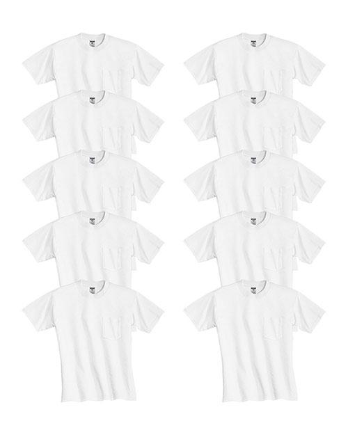 Jerzees 29P Men Dri-Power  Active 5.6 Oz. 50/50 Pocket T-Shirt 10-Pack at GotApparel