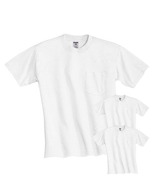 Jerzees 29P Men Dri-Power  Active 5.6 Oz. 50/50 Pocket T-Shirt 3-Pack at GotApparel
