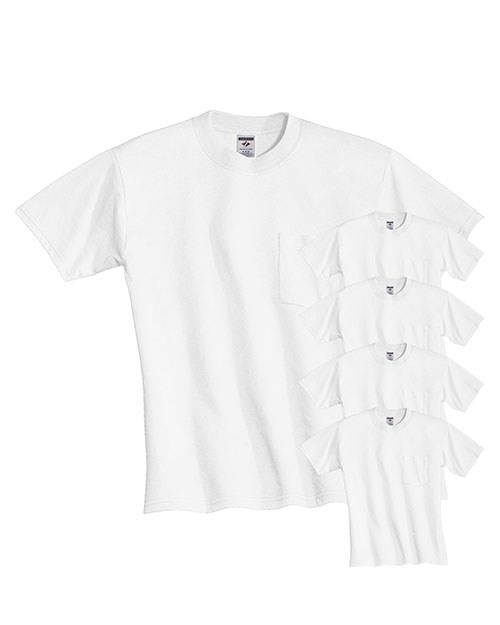 Jerzees 29P Men Dri-Power  Active 5.6 Oz. 50/50 Pocket T-Shirt 5-Pack at GotApparel