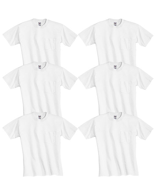Jerzees 29P Men Dri-Power  Active 5.6 Oz. 50/50 Pocket T-Shirt 6-Pack at GotApparel