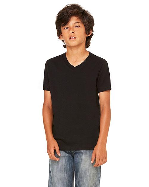 Bella + Canvas 3005Y Boys Jersey Short-Sleeve V-Neck T-Shirt at GotApparel